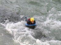 Bajando el rio haciendo Hidrospeed