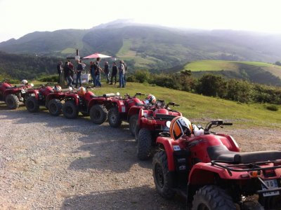 1-seater quad bike ride in Saint-Pée, 2 hours