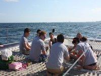 Festa nelle acque di Barcellona