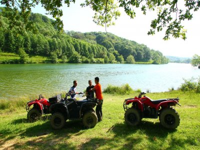 2-Seater quad bike tour surroundings Saint-Pée 1h