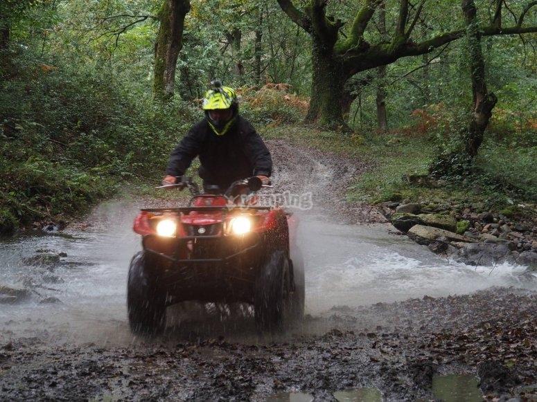 En ruta con el quad