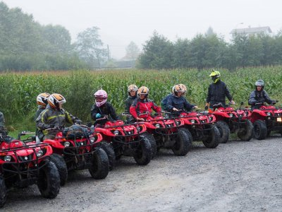 Quad monoplaza ruta off road en Saint-Pée 2 horas