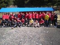 Equipo del Real Valladolid jugando al paintball