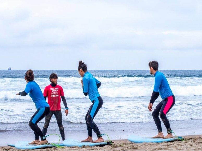 Teoria del surf sulla spiaggia di Salinas