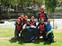 Friends practicing hydrospeed