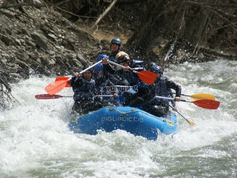 Crossing white waters