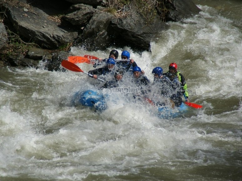 A zone with a lot of rapids
