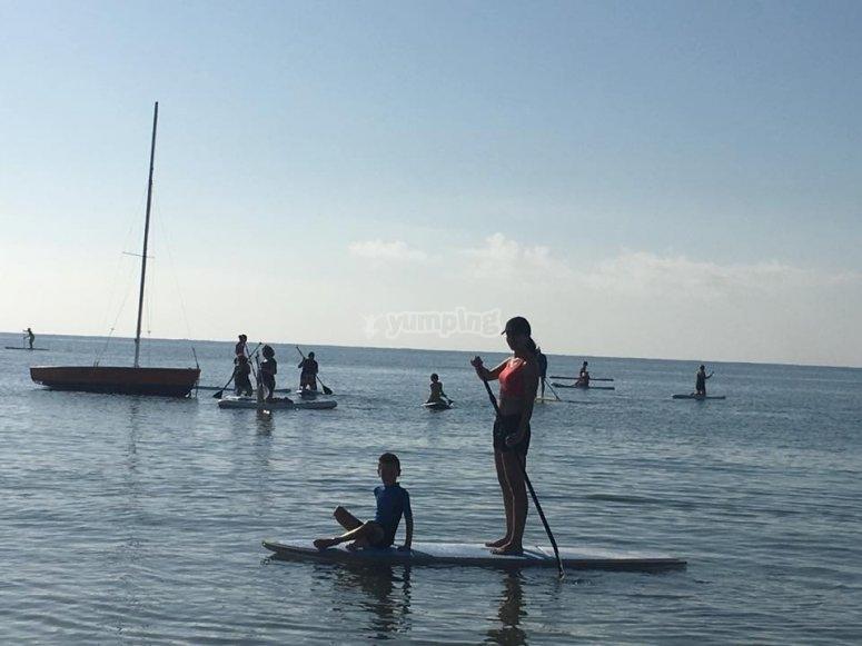 con el paddle surf