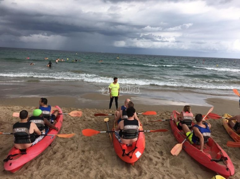 preparados con el kayak