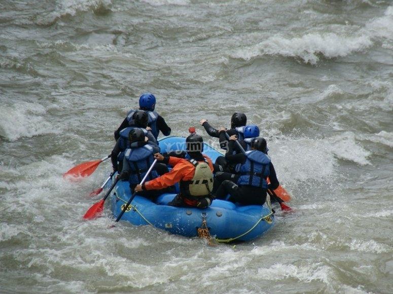 Navegando en el raft