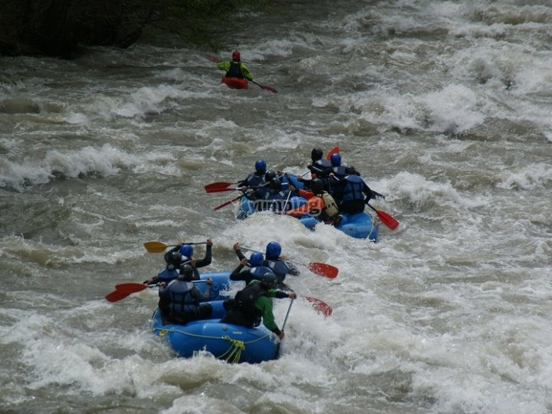 Descending the river