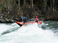Tramo en canoa de aguas bravas