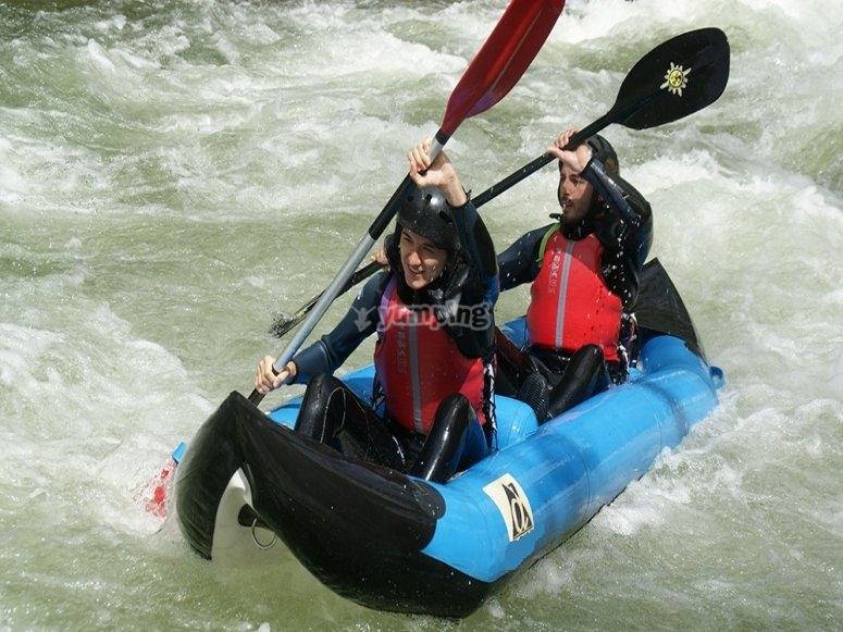 Rafting canoe for 2