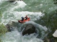 Llavorsi的下坡白水独木舟距离14公里