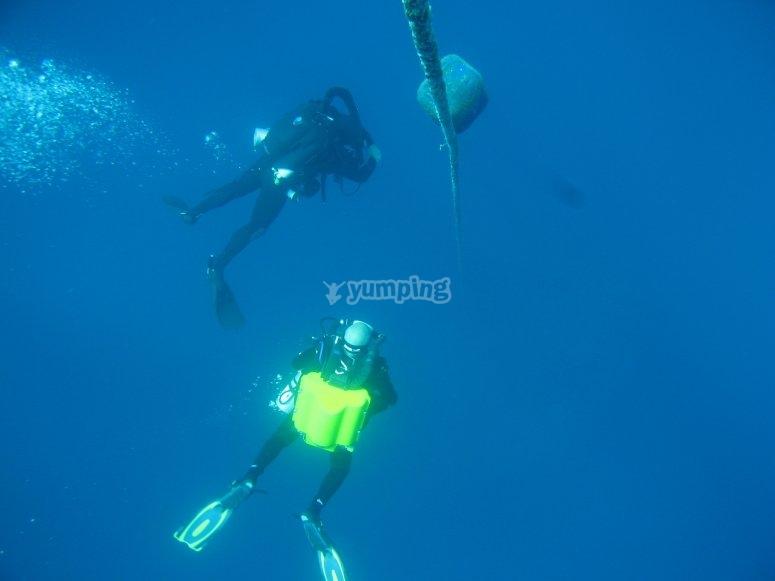 Buceo profundo en Ibiza