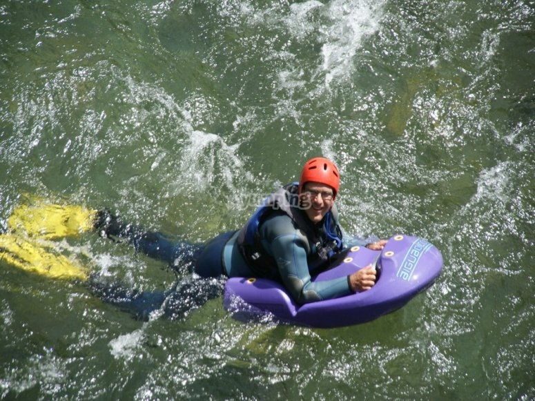 white waters rafting in a riverboard