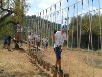 parque de cuerdas campamento multiaventura