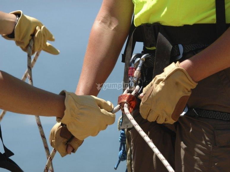 La seguridad es fundamental en la escalada