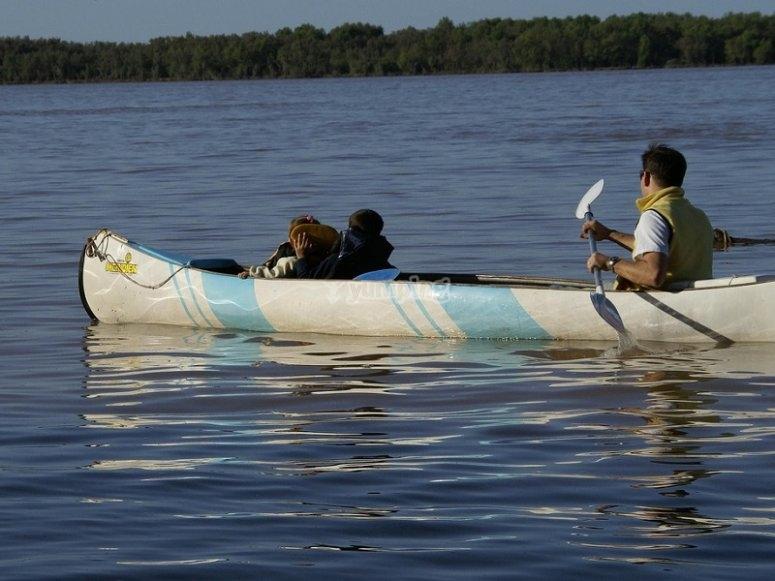 Shared canoe route