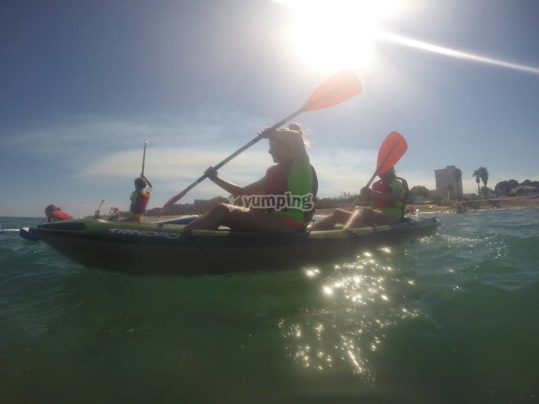 salida de kayak campamento