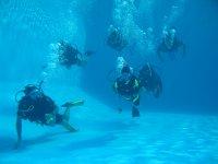 Practicas en la piscina