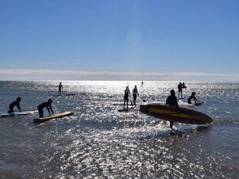 Zona para la navegacion en paddle surf