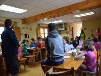Clases de Ingles en el campamento