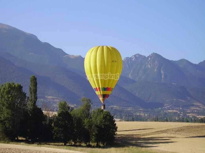 Volar en globo en Catalunya