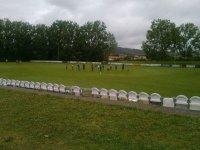 Entrenando en el campo de futbol