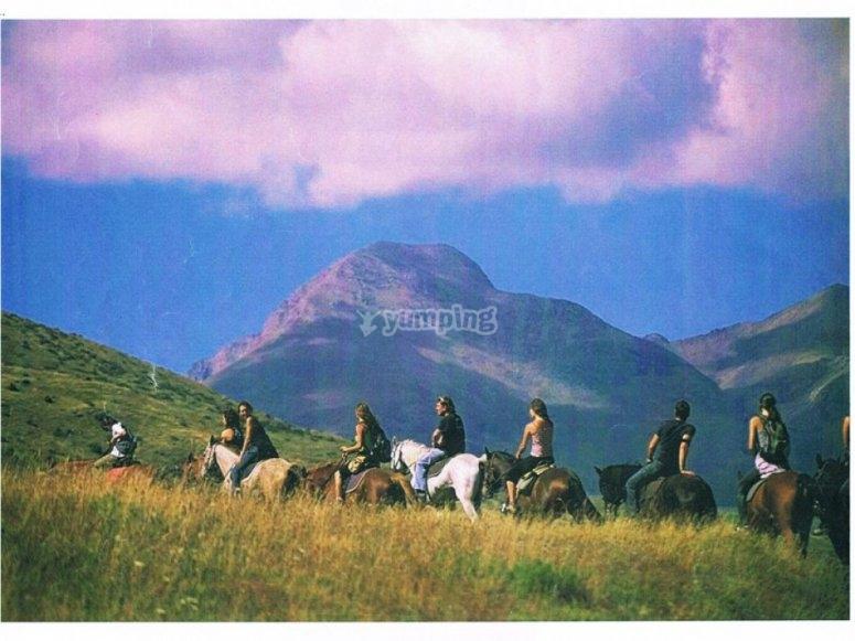 在Lleida骑马