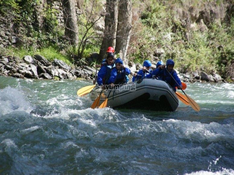 Descenso de rafting en lleida