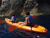 Kayak en el pantano de El Encinarejo