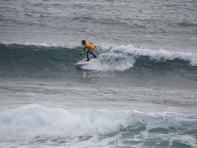 Bautismo de surf en canarias