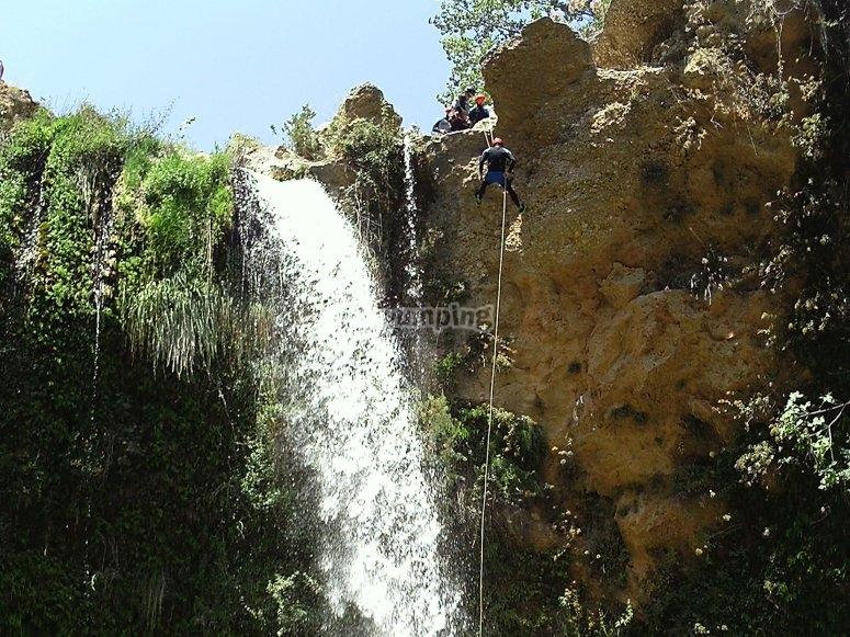 Cascada de un barranco en Alicante