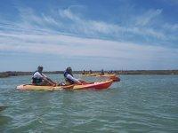 Paseo en kayaks por la bahía de Cádiz