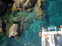 Vistas desde lo alto del catamaran
