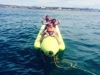 Fun on the banana boat