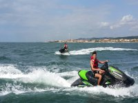 Friends with jet skis