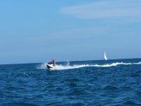Accelerating on jet ski