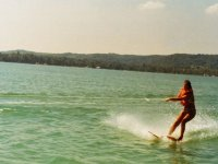 Catching the waves with the skis