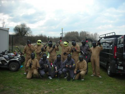 100-ball Paintball Game in Burgos