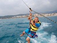 Volando sobre el mar en Calella