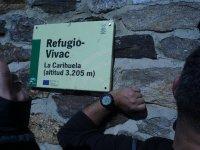 Cartel del refugio Vivac