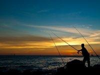 Pesca al atardecer