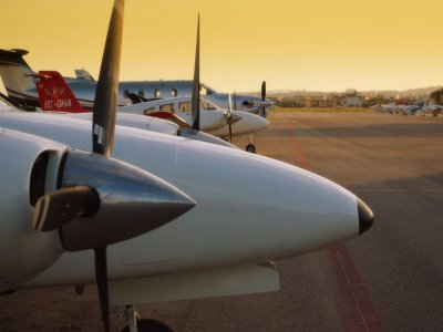 Pilot for a day, Cessna light aircraft. Manises