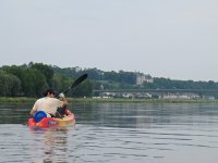 Kayaking routes in the reservoir