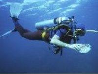 惊叹于水开始潜水水下马洛卡