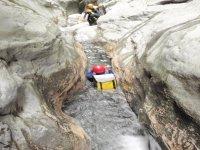 绿松石滴不可思议Pozas池垂降巴兰科