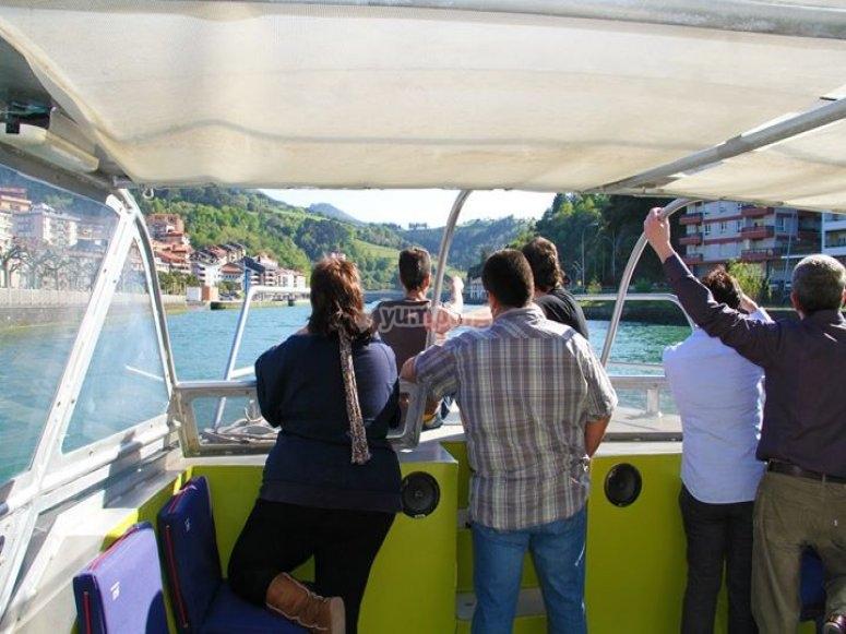Celebracion en el barco