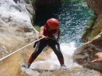 Rappelilng in the ravine
